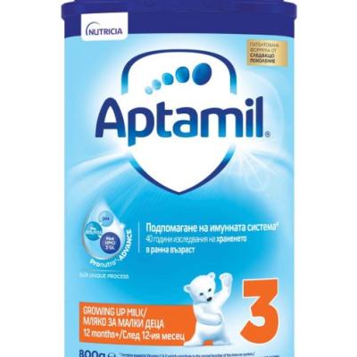 Аптамил Адаптирано Мляко Адванс 3 800г