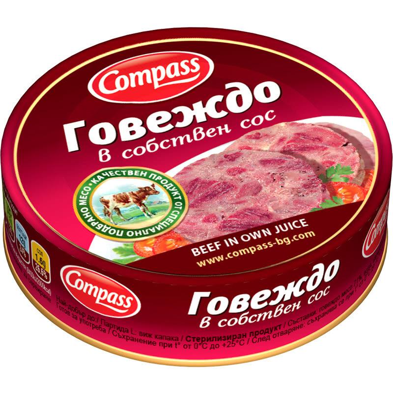 КОМПАС КОНСЕРВА 180Г ГОВЕЖДО СОБСТВЕН СОС