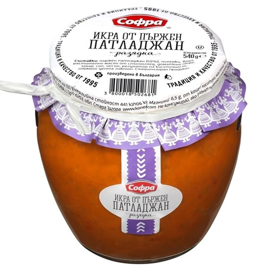 СОФРА ИКРА ПАТЛАДЖАН ПЪРЖЕН АМФОРА 540Г 2681