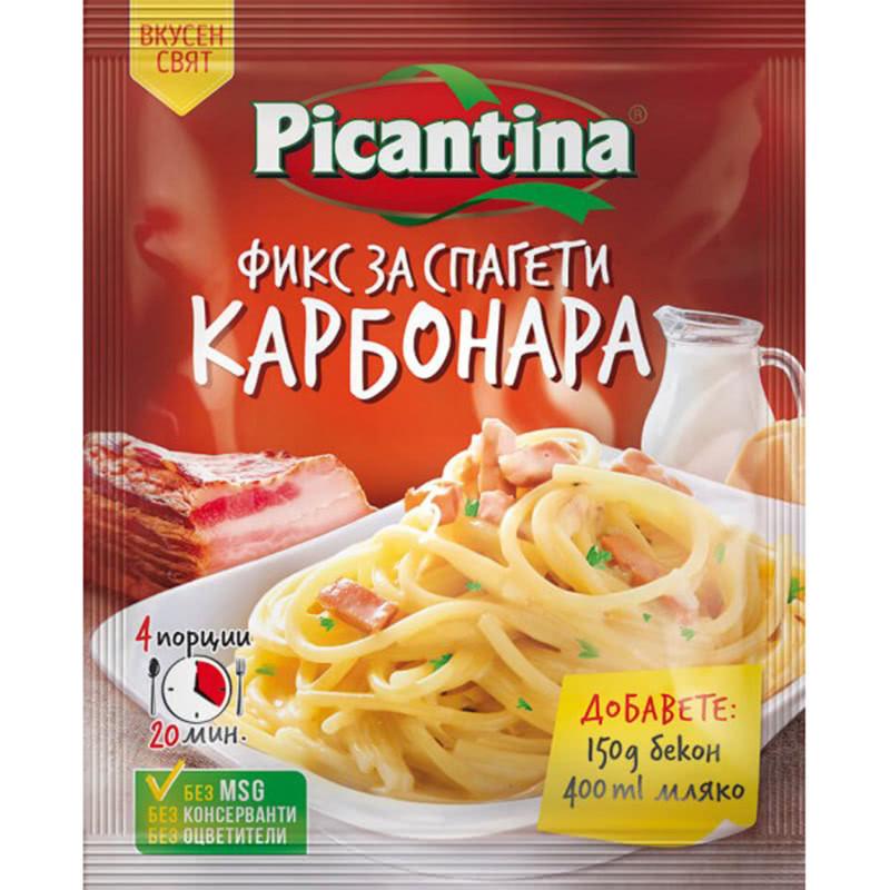 ПИКАНТИНА ПОДПРАВКА ФИКС 40Г СПАГЕТИ КАРБОНАРА