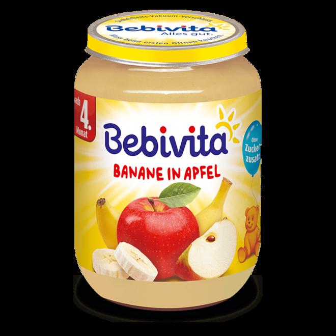 БЕБЕВИТА ПЮРЕ ЯБЪЛКА И БАНАН 190Г