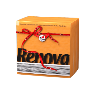 Ренова Салфетки Оранжеви Тип Е 320х330мм 70бр