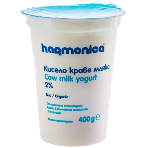 ХАРМОНИКА КИСЕЛО МЛЯКО БИО 2% 400 ГР