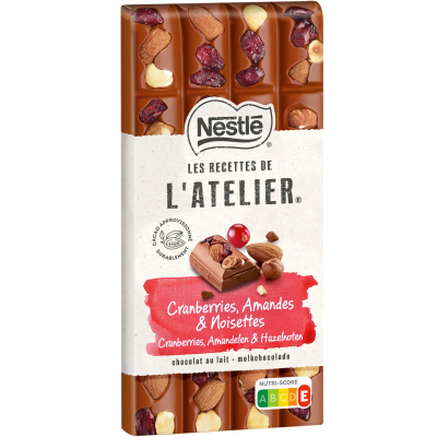 Нестле Шоколад Млечен Лешник Бадем и Боровинки 170г