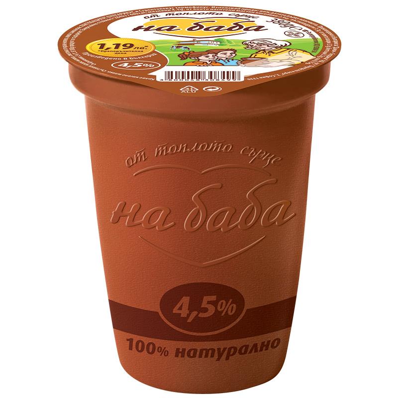 НА БАБА КИСЕЛО МЛЯКО 380Г 4.5%