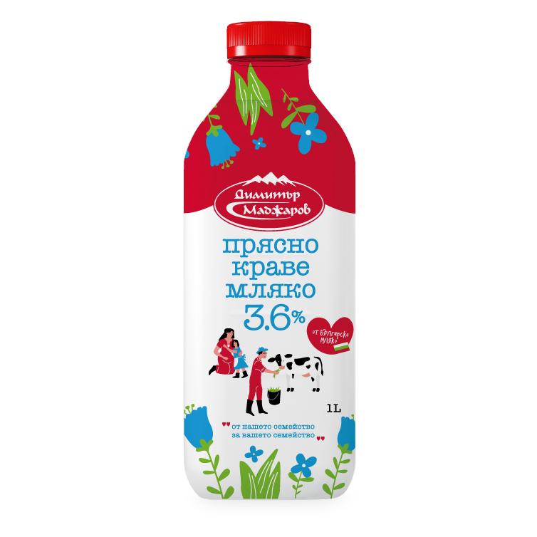 Маджаров Прясно Мляко 3.6% 1л