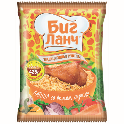 Биг Ланч Инстантни Нудъли Пиле 75г