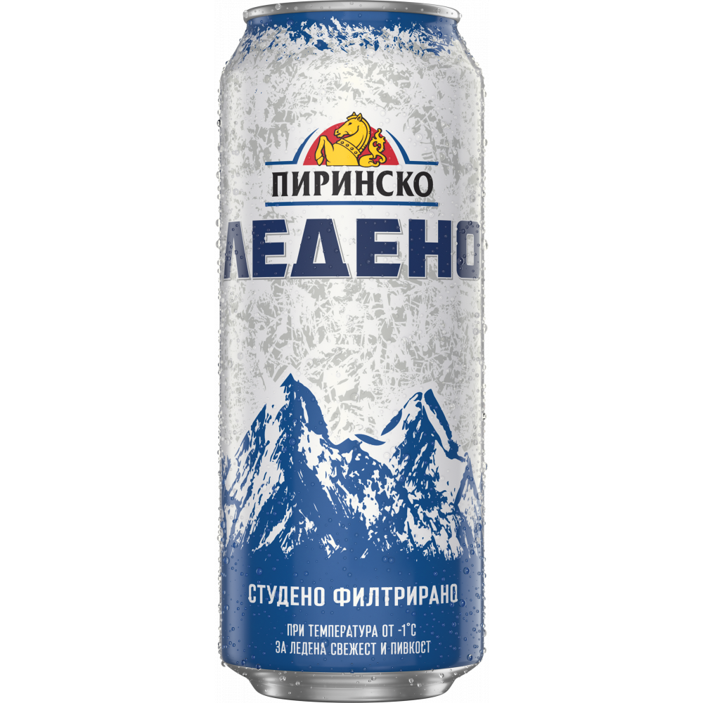 ПИРИНСКО БИРА ЛЕДЕНО 0.500Л КЕН
