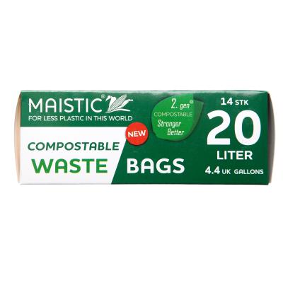 Мистик торби за смет биоразградими 20л 14бр