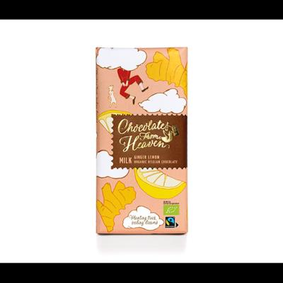 Чоколетс Фром Хевън Шоколад Млечен Лимон Джинджифил 100г