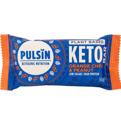 Пулсин протеинов бар кето шоколадов портокал 50г