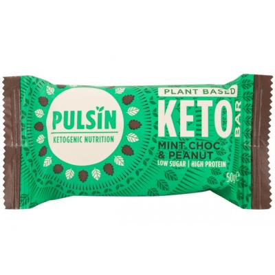 Пулсин протеинов бар кето шоколадова мента 50г