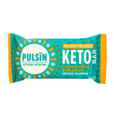 Пулсин протеинов бар кето шоколадово фуджи 50г