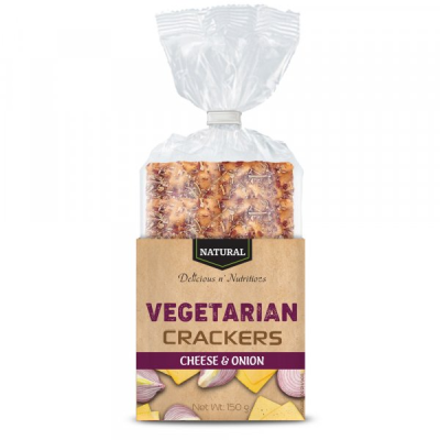 Крекери вегетариански натурални 5 зърна 130г