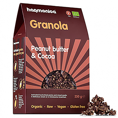 Хармоника гранола био фъстъчено масло какао 250г